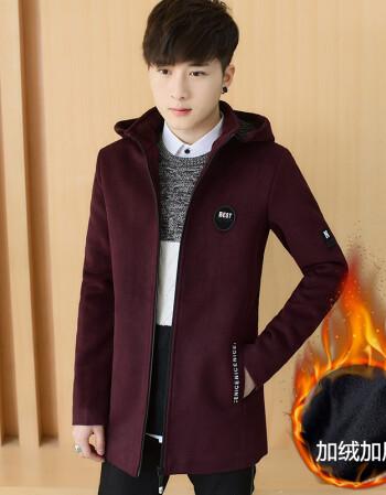 秋冬季棉衣男士加絨加厚妮子外套冬裝冬天棉襖衣服帥氣風衣中長款圖片
