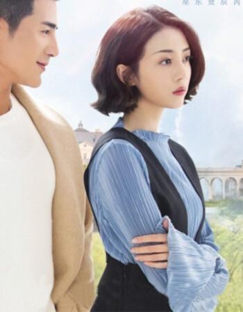 潮牌我站在橋上看風景蕭水光李溪芮同款藍色褶皺雪紡衫黑色背帶連衣裙