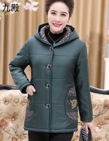 中老年人女裝大碼短款棉服上衣45歲50胖媽媽裝冬天保暖棉襖外套60圖片
