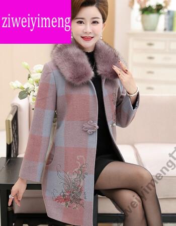 lao女人ziwei_ziweiyimeng妈妈秋冬装外套中老年女装秋装新款外衣中年四十岁女人穿