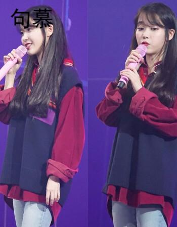 句慕IU李智恩同款酒红灯芯绒衬衫学院风V领针织背心马甲两件套装女 套装 L