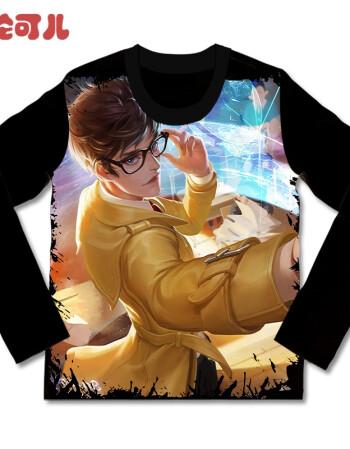 王者榮耀長袖t恤男諸葛亮黃金分割率皮膚兒童童裝衣服圖片