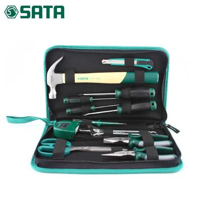 世达12件套五金工具箱家用套装家庭维修水电工工具包套装DY06018