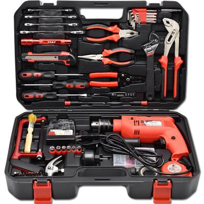 卡夫威尔 工具箱 工具套装 400W冲击电钻组合128件套 P14006A