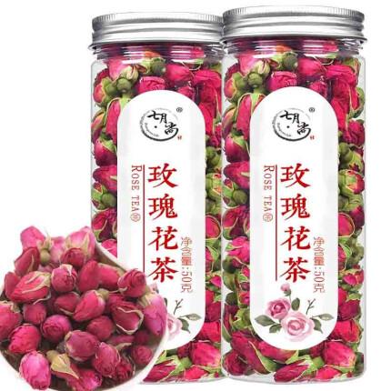 【50g*2罐】七月尚 玫瑰花茶