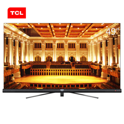 TCL 49C6 49英寸 64位34核人工智能哈曼卡顿音响 4K全面屏平面电视(黑色)
