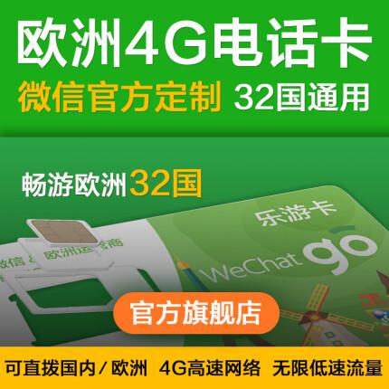 424生活旅行日:欧洲KPN 15天4G电话卡(32国通用)