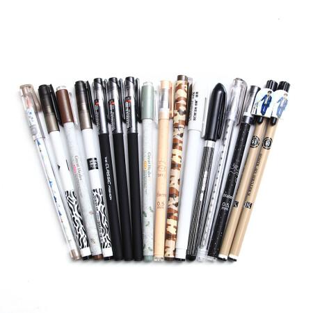 至尚·创美(SCM) zxb125 0.5mm+0.38mm+0.35mm中性笔/水笔/碳素笔/签字笔套装 黑色 50支装 笔杆随机