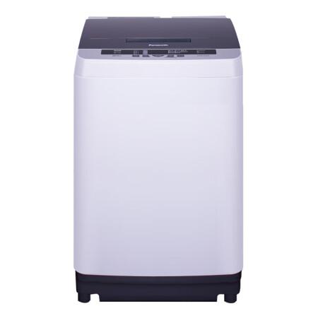 松下(Panasonic)9公斤全自动波轮洗衣机 宽瀑布速流 人工智能 超大容量 桶洗净XQB90-Q59T2F灰色