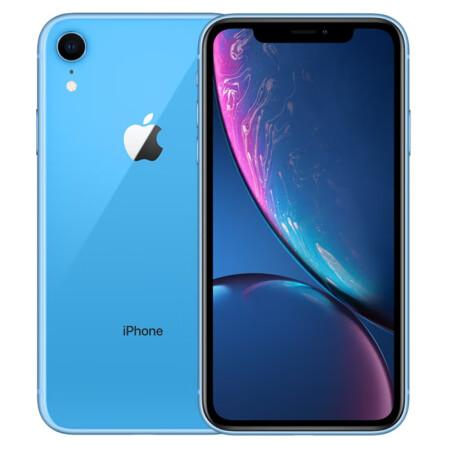 Apple iPhone XR (A2107) 64GB 蓝色 全网通(移动4G优先版) 双卡双待