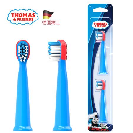 托马斯和朋友(THOMAS&FRIENDS)儿童电动牙刷 替换刷头(TC1803专用) 软毛深度清洁 2支装蓝色