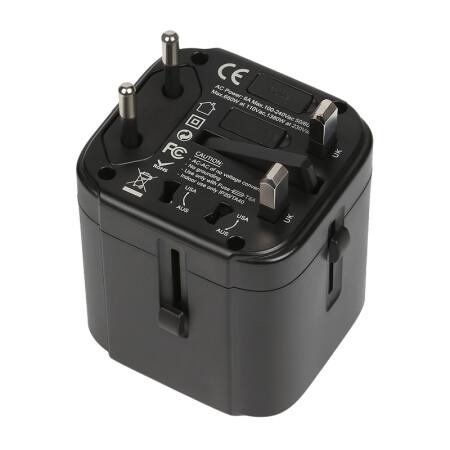 良工(lengon)全球通用转换插头3USB出国旅行多国插座港版日本欧美英德标多功能电源转换器