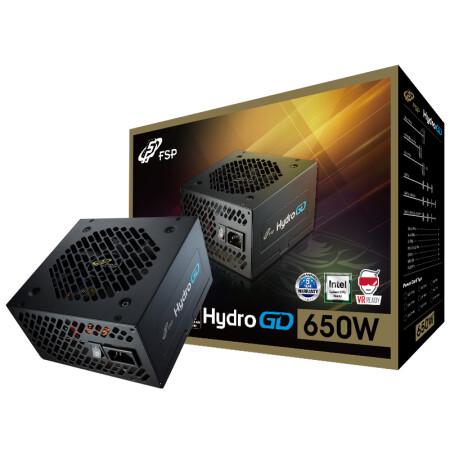 全汉(FSP)额定650W Hydro GD650 金牌电源(五年质保/DC-DC/全日系电解电容/全电压/扁平线设计)