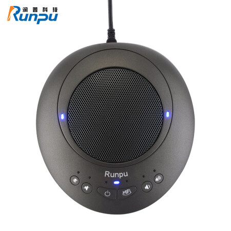 润普(Runpu) 视频会议全向麦克风/USB连接/回音消除软件系统终端设备 RP-N30