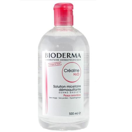贝德玛(Bioderma)深层舒妍卸妆水 舒缓保湿粉水(干性中性敏感肌法国版 海外版随机发)500ml