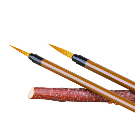 南国书香毛笔练字国画勾线笔水彩描线笔狼毫工笔画小叶筋套装3支