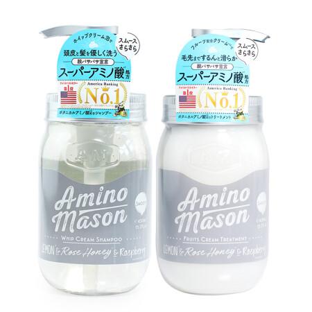 日本Amino mason 牛油果氨基酸无硅油洗发水/护发素清爽滋润 樱花限定 *清爽型洗发水+护发素450ml