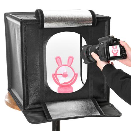 金贝(JINBEI)60CM LED摄影箱柔光箱专业摄影灯箱小型简易拍照摄影棚电商拍摄器材道具