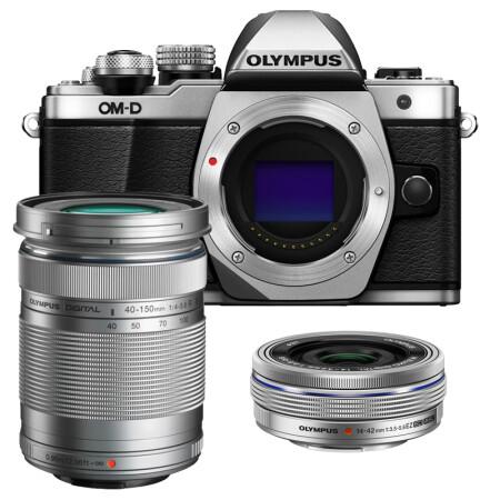 奥林巴斯(OLYMPUS) E-M10 MarkII-1442-EZ+40150 银色