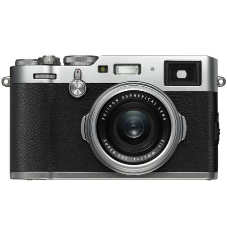 富士(FUJIFILM)X100F 数码旁轴相机 银色 人文扫街 2430万像素 混合取景器 复古 WIFI USB充电