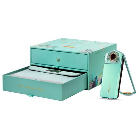 卡西欧(CASIO)EX-TR750 奇幻绿礼盒版(3.5英寸大屏、双LED灯、天使之眼)美颜自拍神器