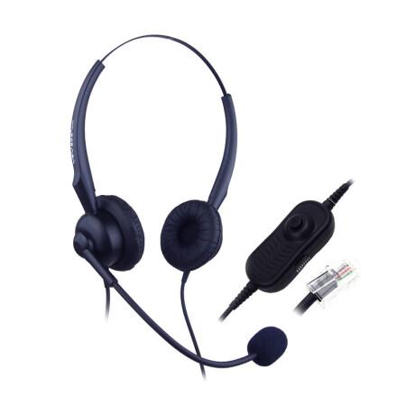 亚尔亚(YEY) VE30D-MV 呼叫中心话务员双耳耳机 电话机耳机 可调音量大小和静音功能