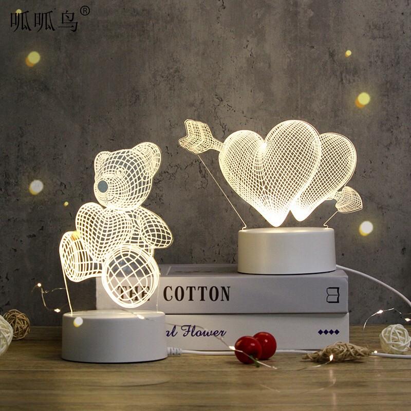 LED温馨暖光卡通亚克力夜灯
