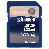 金士顿(Kingston)8GB Class4 SD存储卡