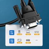 毕亚兹 VGA线 1.5米 vga3+9铜芯高清视频线 笔记本电脑连接电视显示器...