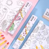 得力(deli)自粘儿童墙纸贴画可涂画创意DIY粘贴儿童填色纸74822