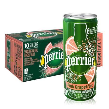 绝对值: Perrier 巴黎水 气泡矿泉水 西柚味 250ML*30罐 *3件