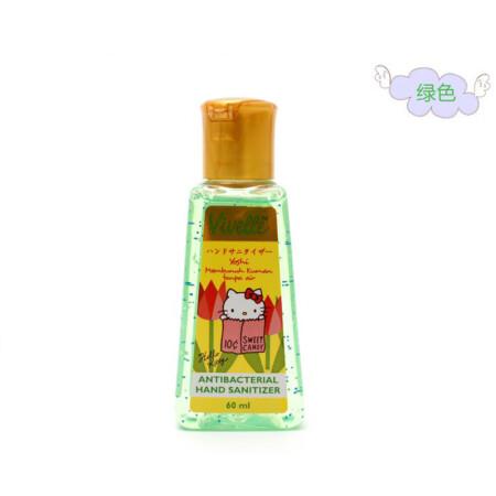 Vivelle Hello Kitty免洗洗手液印度尼西亚保税区发货包税60ml 草绿色