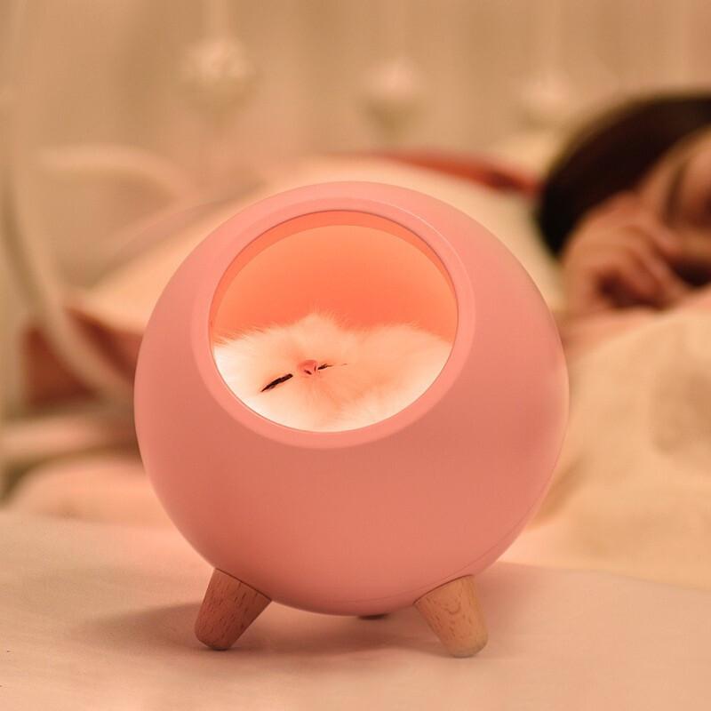 一木缘猫咪小夜灯,送女生可爱创意礼物