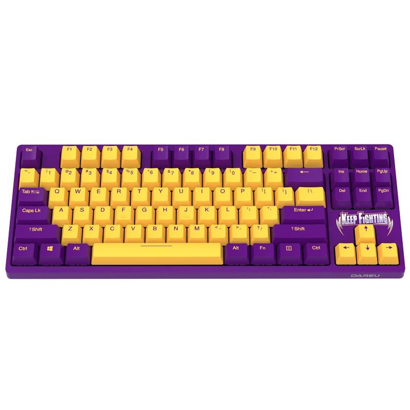 达尔优A87樱桃轴机械键盘,送女朋友漂亮实用礼物