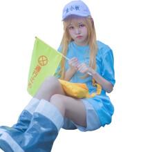 白泽工作细胞cosplay制服全套血小板COS服装二次元女装动漫周边帽子配饰软妹子 血小板假发(送发网) M码