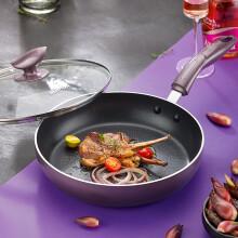 蘇泊爾28cm玻璃蓋火紅點煎鍋平底鍋不粘電磁爐通用炒菜鍋牛排鍋PJ28K4