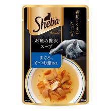 京东超市 希宝原装进口猫粮 肉块浓汤软包猫罐头 吞拿鱼柴鱼成猫1*40g 单袋装 妙鲜包黑金高汤包