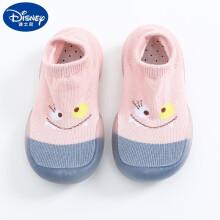 新上市 迪士尼小孩子地板上穿的袜子鞋夏季儿童地板袜卡通防滑软底男童女童婴儿薄款宝宝室内学步袜子鞋 粉红色 粉表情 24-25(脚长13.1-14CM)内长14.5