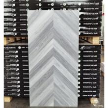 spc石塑锁扣鱼骨拼地板石晶竹木纤维防水防潮个性塑胶卡扣式地板 鱼骨拼 A B 板 灰色