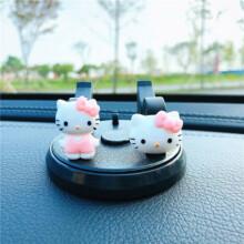 车载手机支架可爱车用中控台多功能通用旋转汽车上固定导航支撑架 KT