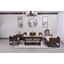 罗汉床新中式 老榆木推拉伸缩实木沙发小户型家具组合白蜡木贵妃榻 豹点 罗汉床成套沙发 1.2米以下