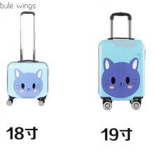 儿童行李箱可坐可爱卡通女学生小号登机箱迷你韩版小型旅行箱网红 PC大脸猫 18寸