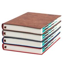 朗捷 2019年日程本文具笔记本子效率手册一天一页A5加厚日记本记事本子 棕色