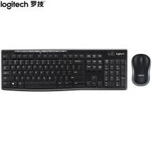 羅技(Logitech)MK270 鍵鼠套裝 無線鍵鼠套裝 辦公鍵鼠套裝 全尺寸 黑色 自營 帶無線2.4G接收器