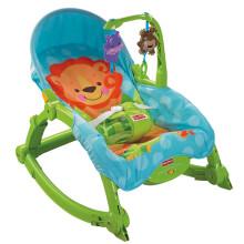 費雪(Fisher Price)益智玩具 新生兒寶寶嬰幼兒可愛動物多功能輕便搖椅睡覺椅W2811