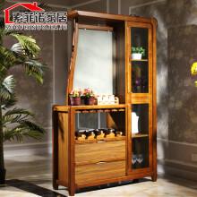 索菲诺(SOLFANOL) 新中式实木间厅柜简约隔断玄关柜装饰柜双面酒柜现代客厅成套家具 9803间厅柜