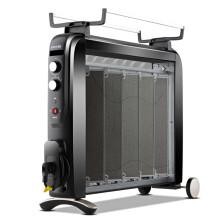 格力(GREE)取暖器家用節能省電暖器電熱膜暖氣片無油汀防bao大功率暖爐風機家電NDYC-25C-WG 黑色