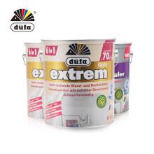 京东国际 德国都芳金六合一墙面漆套装水性乳胶漆 涂料 进口面漆2桶+底漆1桶 白色 5L*3