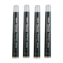 日本Pentel派通便携式口袋软毛笔中楷科学毛笔 书法毛笔 签字笔 可换替芯XGFKP FP10墨胆4支装(不含笔)