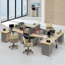 迪菲勒(difille)新款办公家具时尚简约四人组合办公桌